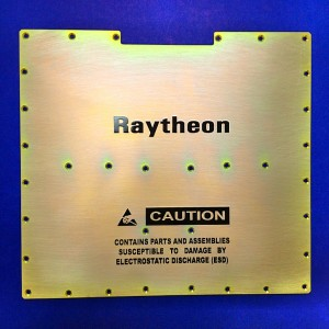 Silkscreening Raytheon module per part marking spec MIL-STD-130. Los Angeles, CA.